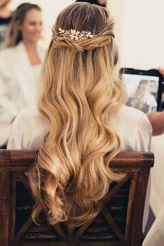 25 Elegant Half Updo Wedding Hairstyles: #15.