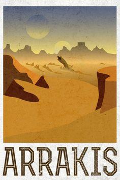 Arrakis Retro Travel Poster Posters na AllPosters.com.br