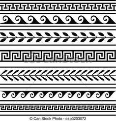 Resultado de imagem para desenhos gregos grafismo