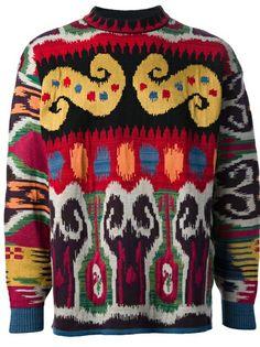ab68c0af8 KENZO VINTAGE - graphic knit sweater 6 Mens Cable Knit Sweater, Cashmere Sweater  Men,