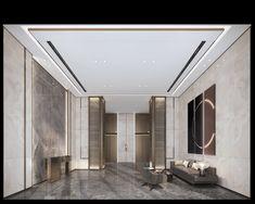 Elevator Lobby, Lobby Design, Hotel Interiors, Lobbies, Condo, Art Deco, Luxury, Room, House