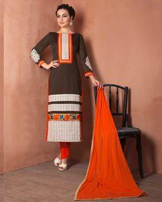 Black   lush Embroidered Chanderi Designer Salwar Suits for women(Semi Stitched)       Fabric:   Chanderi       Work:   Embroidered       Type:   Designer Salwar Suits   for women(Semi Stitched)       Color:   Black                 Fabric Top   Chan