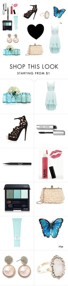 """Blue love!"" by stinnetigerdyr ❤ liked on Polyvore featuring Forever New, Topshop, Bobbi Brown Cosmetics, Stila, NYX, Shiseido, GUESS by Marciano, KORA Organics by Miranda Kerr, Monet and Kimberly McDonald"