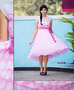 Pink polka dot dress Pink Polka Dots, Dot Dress, Vintage, Dresses, Style, Fashion, Vestidos, Swag, Moda