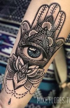 Super eye tattoo meaning hamsa hand ideas Hamsa Hand Tattoo, Hand Tattoos, Body Art Tattoos, Sleeve Tattoos, Cool Tattoos, Evil Eye Tattoos, Tattoo Hip, Buddha Tattoos, Eye Tattoo Meaning