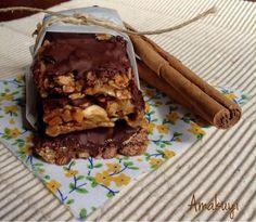 Barritas energéticas caseras de cereales y chocolate