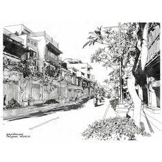 Denpasar, Urban Sketching, Doodles, Watercolor, Drawings, Sketches, Illustration, Painting, Twitter
