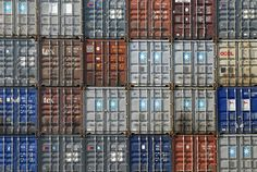 container ship plaid