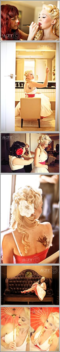 Rockabilly vintage themed wedding in Las Vegas