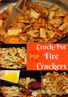 Crock-Pot Fire Crackers - a tasty snack mix made in your slow cooker.