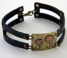 Brass & Copper Whimsy Bracelet by DreamBelle Designs, via Flickr