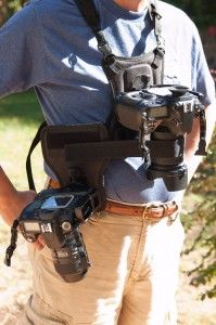 Cotton Carrier Camera System for 2 Cameras worn by Peter Liu