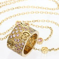 GUCCI 18K Rose Gold Icon Stardust pink sapphire Necklace W/Box. Get the lowest price on GUCCI 18K Rose Gold Icon Stardust pink sapphire Necklace W/Box and other fabulous designer clothing and accessories! Shop Tradesy now