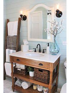 How to Turn Vintage Furniture into a Bathroom Vanity ...