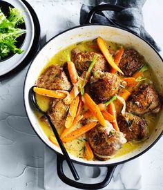 Rosemary, mustard and brandy chicken with buttered carrot recipe