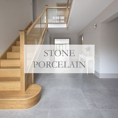 experts in import & retail of natural stone flooring. Order your free stone tile samples Tiled Staircase, Tiled Hallway, Wooden Staircases, Wooden Stairs, Staircase Design, Hall Flooring, Stone Flooring, Kitchen Flooring, Hall Tiles
