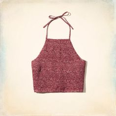 Smocked Halter Top - Supersoft knit fabric, all-over pattern print, halter tie at neck and back.