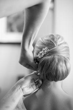 classic low bun bridal hairstyles