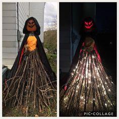Halloween-Gartendame - a Spooky Halloween, Halloween Veranda, Halloween Outside, Happy Halloween, Halloween Labels, Halloween 2020, Halloween Projects, Halloween Pumpkins, Diy Halloween Props