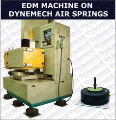 EDM Machine installed on Dynemech Air Springs - External Vibration Control.  EDM machine can be installed on Dynemech's Ultra sensitive Air Springs or Screw Support Mounts with dual layer Dp insulation plates for maximising the external vibration isolation.   http://vibrationmountsindia.com/EDM_machine-vibration-control.html#