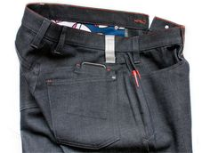 swrve blue cycling jeans. saw them at Interbike. love their stuff.