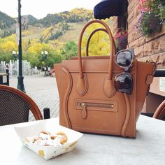 Recent Outfits + Aspen Recommendations : Celine mini luggage handbag Celine Tote Bag, Celine Mini Luggage, Celine Handbags, Mini Handbags, Tote Bags, Aspen, Southern Curls And Pearls, Designer Handbags Outlet, Luxury Bags