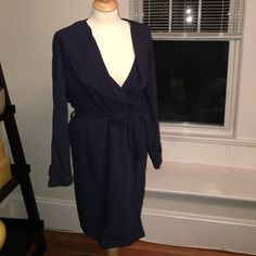 H&M light weight trench Sz M Super cute, light weight, h&m navy trench coat size M. H&M Jackets & Coats Trench Coats