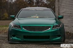 The Emerald Dream Custom Functionz' 2009 Honda Accord Honda Accord Coupe, Honda Cars, Air Ride, Japanese Cars, Car Manufacturers, Drag Racing, Custom Cars, Jdm, Classic Cars