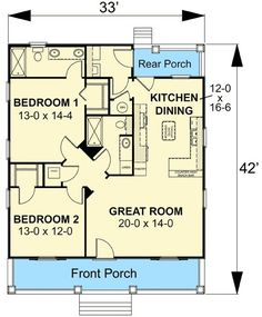 Charming Country Cottage - 2591DH | Cottage, Country, Narrow Lot, 1st Floor Master Suite, PDF | Architectural Designs