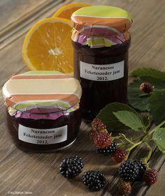 Narancsos feketeszeder dzsem hagyományosan és cukorbetegeknek – készítette Nemeskövi Dénes mesterszakács – Receptletöltés Kefir, Candle Jars, Yogurt, Candle Mason Jars