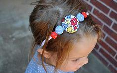 Tutorial ~ Button Headband  #DIY #kids #sew #jewelry