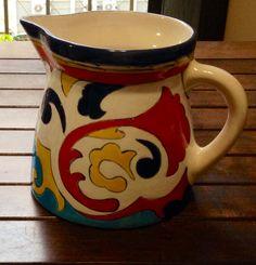 Jarra pintada a mão. Tableware, House, Art History, Dinnerware, Home, Tablewares, Haus, Place Settings, Houses