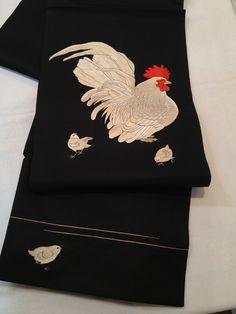 Japanese bird embroidery