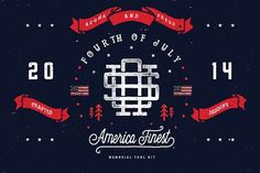 America Finest Tool Kit by pixelpines on @creativemarket