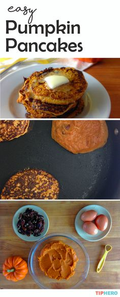 Easy Pumpkin Pancakes | Here's a great recipe for using up any leftover canned pumpkin or mashed sweet potatoes you might have on hand. Plus, it's low-carb, gluten free, sugar free, Paleo and whole30 compliant, full of protein, fiber, and complex carbohydrates. It may possibly be the easiest pancake recipe you will ever make. Click for the recipe!  #recipe #homecooking #goodeats #healthyrecipes