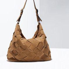 Woven Suede Bucket Bag from Zara R1790,00