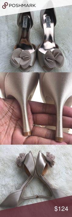 Badgley Mischka Heels-NWOB Stunning Badgley Mischka heels never been worn with a 3.5 inch heel with a leather sole. Color is Ivory Badgley Mischka Shoes Heels