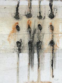 Me And Maria by Scott Bergey. Medium: Mixed media on paper; Art Aquarelle, Zen Art, Texture Art, Sculpture, Abstract Art, Black Abstract, Contemporary Art, Drawings, Inspiration