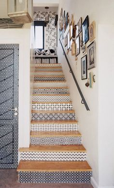 Tile the stair risers?
