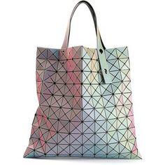 BAO BAO ISSEY MIYAKE iridescent cross squares shopper tote