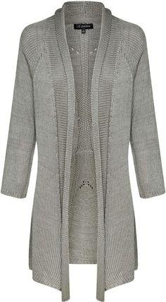 Liz Jordan Draped Cardi $109.95 AUD  Longline draped cardigan pointelle knit detail on back of cardigan, centre back length is 90cm Acrylic  Item Code: 046562