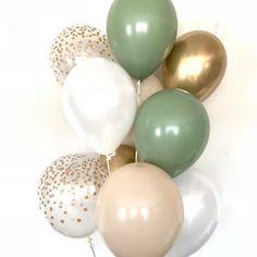 Baby Shower Verde, Baby Shower Boho, Gender Neutral Baby Shower, Baby Shower Green, Green Bridal Showers, Gold Baby Showers, Baby Shower Balloons, Baby Shower Parties, Baby Shower Snacks