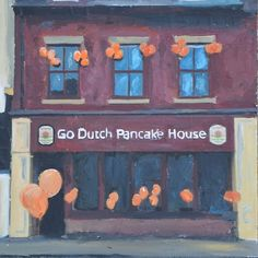 Hull, Go Dutch Pancake House, original art by Andrew Reid Wildman