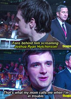 Hahaha! Oh, I love Joshy. ;) I'd never be able to get used to people yelling my name all the time. :D