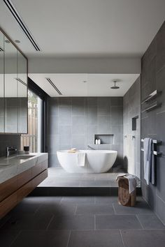 From standard to contemporary to beach-inspired, bathroom design choices are countless. Our gallery showcases bathroom improvement concepts. From complete master bathroom restorations, smaller visitor bathroom remodels, and bathroom remodels of all sizes. Kitchen And Bath Design, Bathroom Design Luxury, Bathroom Designs, Bathroom Ideas, Bathroom Renovations, Bathroom Goals, Modern Luxury Bathroom, Modern Master Bathroom, Grey Bathrooms