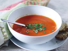 Carrot and Roasted Red Pepper Soup (sounds easy, for a busy day)