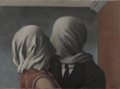 MoMA | René Magritte. The Lovers. Le Perreux-sur-Marne, 1928 You don't have to see in order to feel...