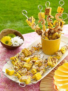 Grilling recipes: Fruity Grilled Shrimp Skewers