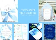 """Si votre thème est la #mer , #plage , #été , le #bleu  #clair est la couleur indispensable ! Personnellement le #bleu #clair me donne déjà l'impression d'être en #vacances ! Pas vous ? J'avoue que je ne peux plus penser #bleu sans me dire """"Le bleu du ciel n'est pas le bleu de la mer..."""" Vous reconnaissez ? ;-) Le #Bleu est la couleur parfaite pour un thème sur #Vaiana :D Cette épingle est consacrée au faire-part. Shine Wedding Invitations, Wedding Event Planner, Dire, Impression, Blue Wedding, Shit Happens, Inspiration, Beautiful, Light Blue"""