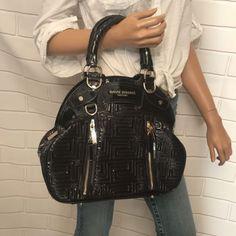 e41c5cb2e3 Gianni Versace Patent Leather Purple Handbag Versace Bag